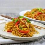 Chinese Noodle Dish - The Vegan Rhino