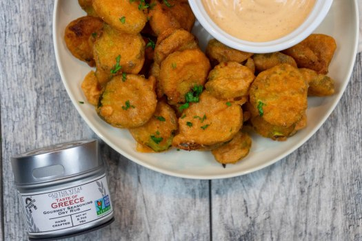 Fried Pickles - The Vegan Rhino