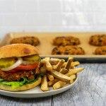 Sweet Potato Burger - The Vegan Rhino