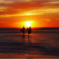 sunset-yoga-surfer