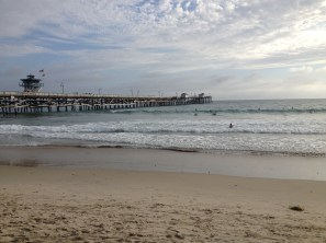 Enjoying the views at the San Clemente Pier