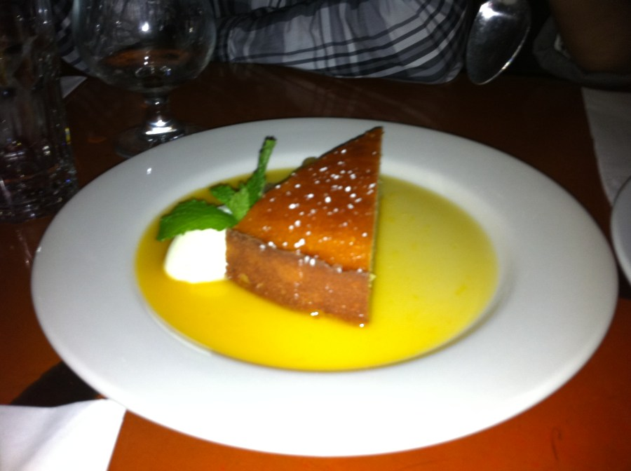 Cafe Mogador NYC Restaurant Orange Almond Cake