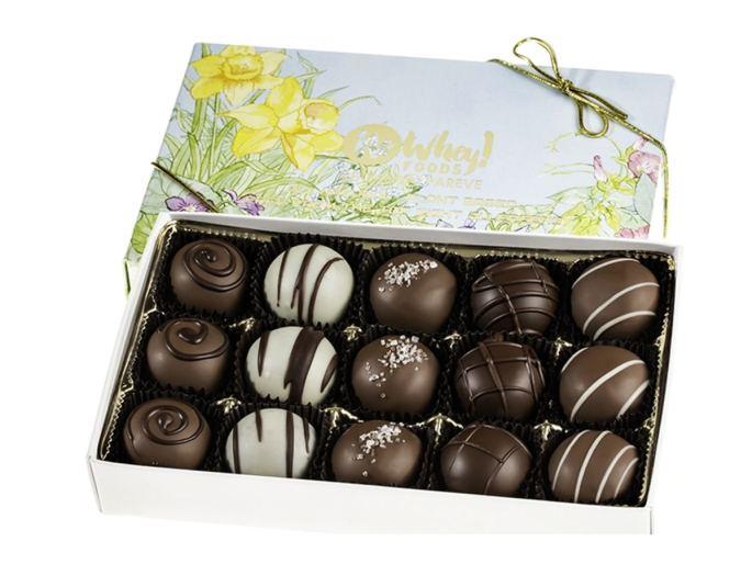 No Whey Vegan Easter Truffles in white, dark and milk chocolate 15 pieces.