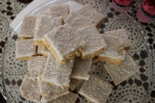 old-fashioned lemon coconut slice | Veggie Mama