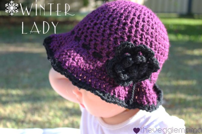 Free Crochet Pattern: Winter Baby Girl Hat