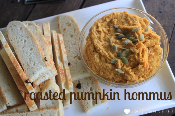 roast pumpkin hommus - a simple but delicious twist on an old favourite | Veggie Mama