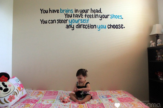 So you wanna paint a quote mural on your wall?