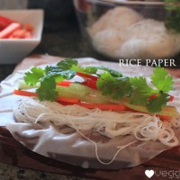 Easy rice paper rolls