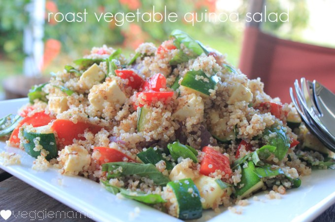 Summery roast vegetable and quinoa salad