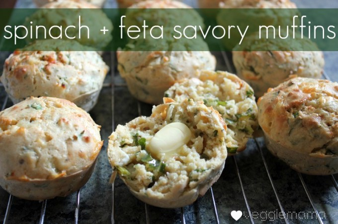 spinach feta and sundried tomato muffins - great for lunchboxes
