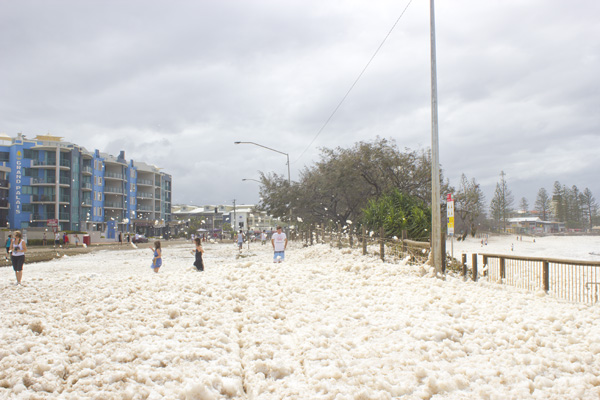 foam flying everywhere