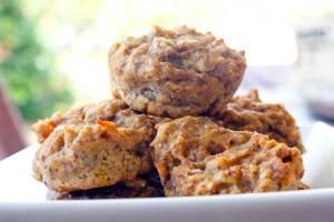Vegan banana peach muffins   Veggie Mama