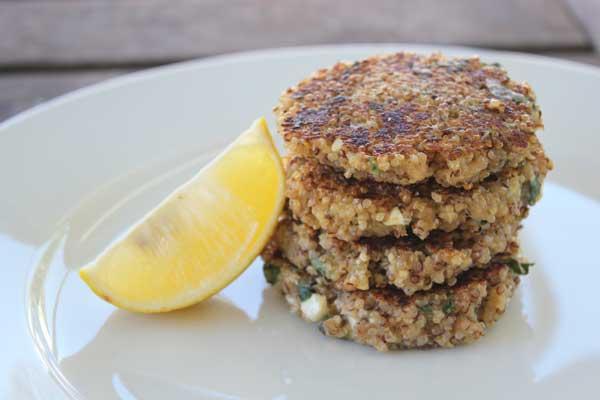 feta-and-oregano-quinoa-patties