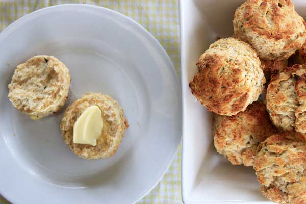 Cheese + herb savoury scones