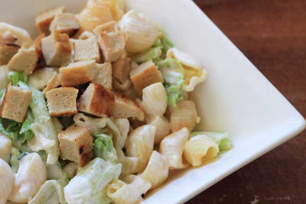 "Quick ""Chicken"" Buttermilk Ranch Pasta Salad"