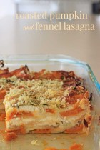 Roasted pumpkin and fennel lasagna