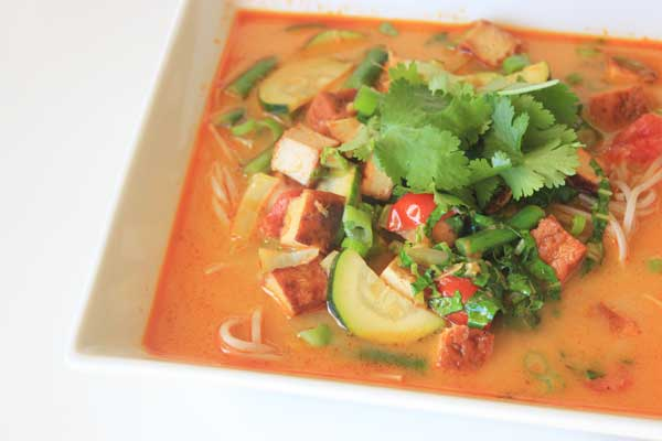 Vegetarian/Vegan Thai Coconut Soup for One