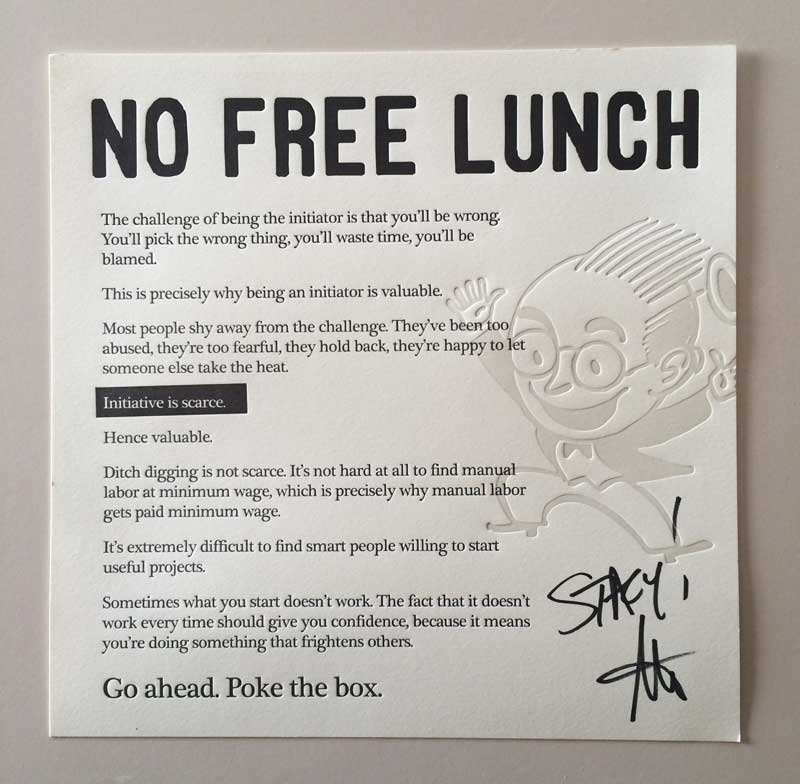 Seth Godin No Free Lunch