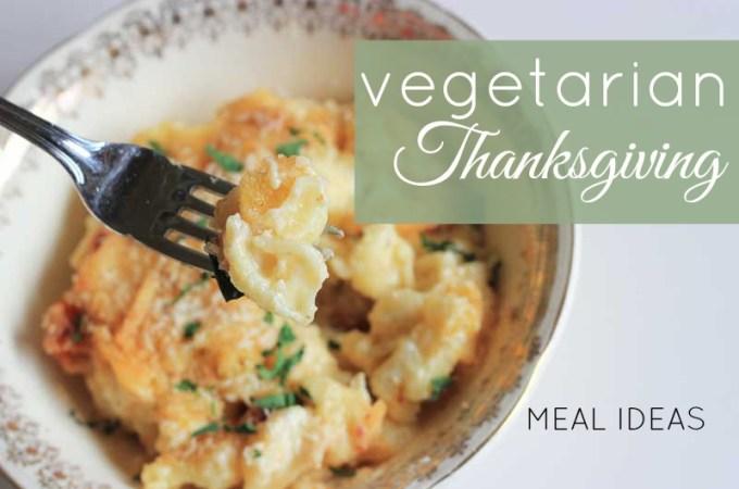 Vegetarian thanksgiving meal ideas - you won't go hungry this holiday season! // www.theveggiemama.com