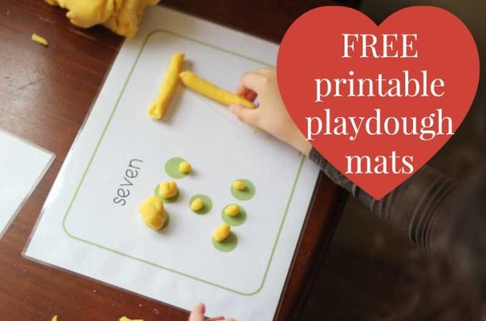 5 Free Printable Playdough Mats
