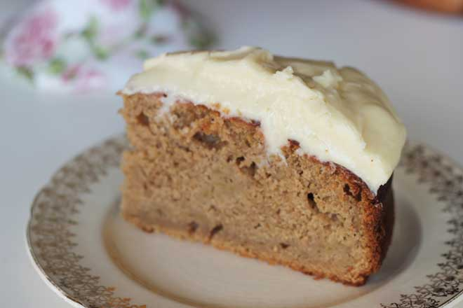 Apple, Quince and Ginger Cake with Golden Syrup Cream Cheese Frosting