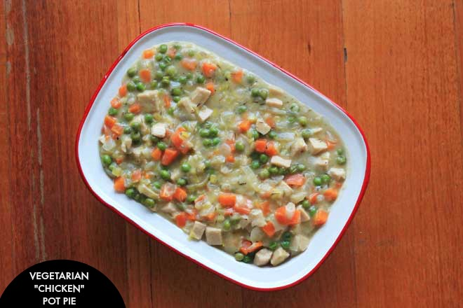 "A vegetarian favourite of an old classic - ""chicken"" pot pie. Rich and creamy, as you'd expect! on theveggiemama.com"