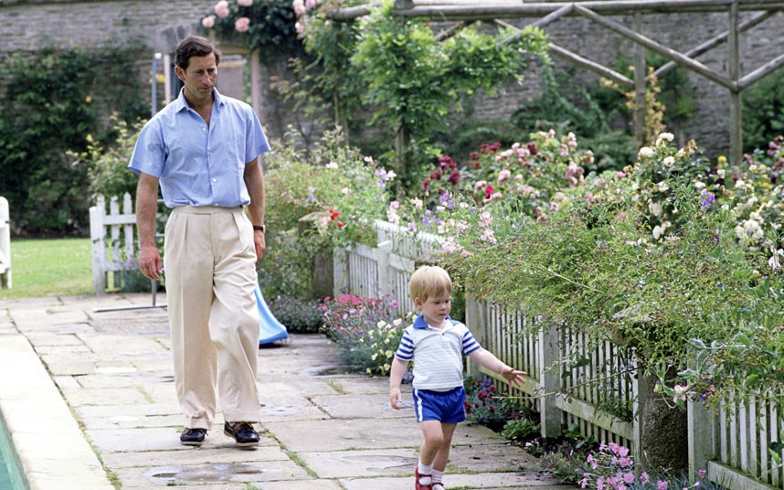 Prince Charles and his garden at Highgrove with Prince Harry