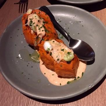 Sweet potato with spiced yoghurt