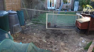 A cleared veg patch