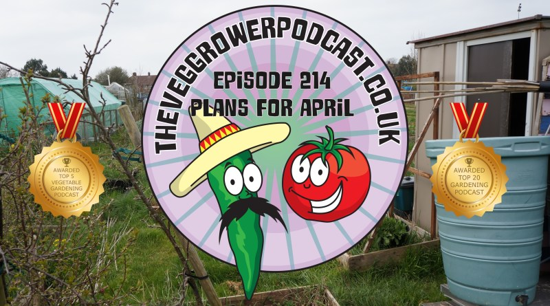 Join me in this weeks vegetable gardening podcast where I shall be discussing my plans for April. I also have the latest on my allotment and vegetable patch.