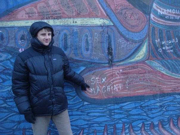 Justin Ames at the East Side Gallery