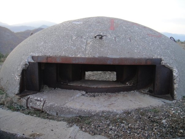 A bunker in Albania intended for combat