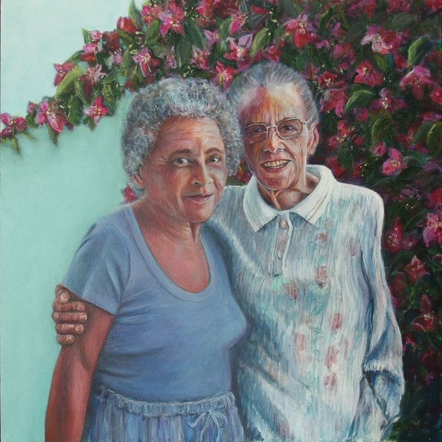 painting of Jataun Valentine and Novelette Tabor Bailey