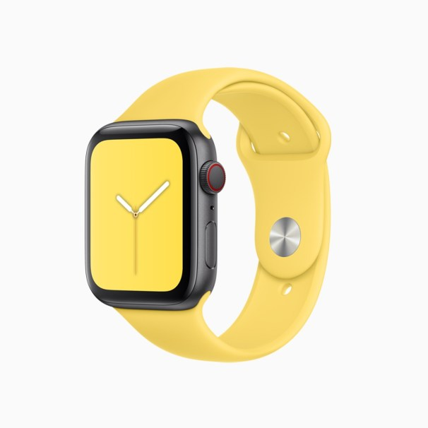 apple-watchos6_summer-sports-band-canary-yellow_060319