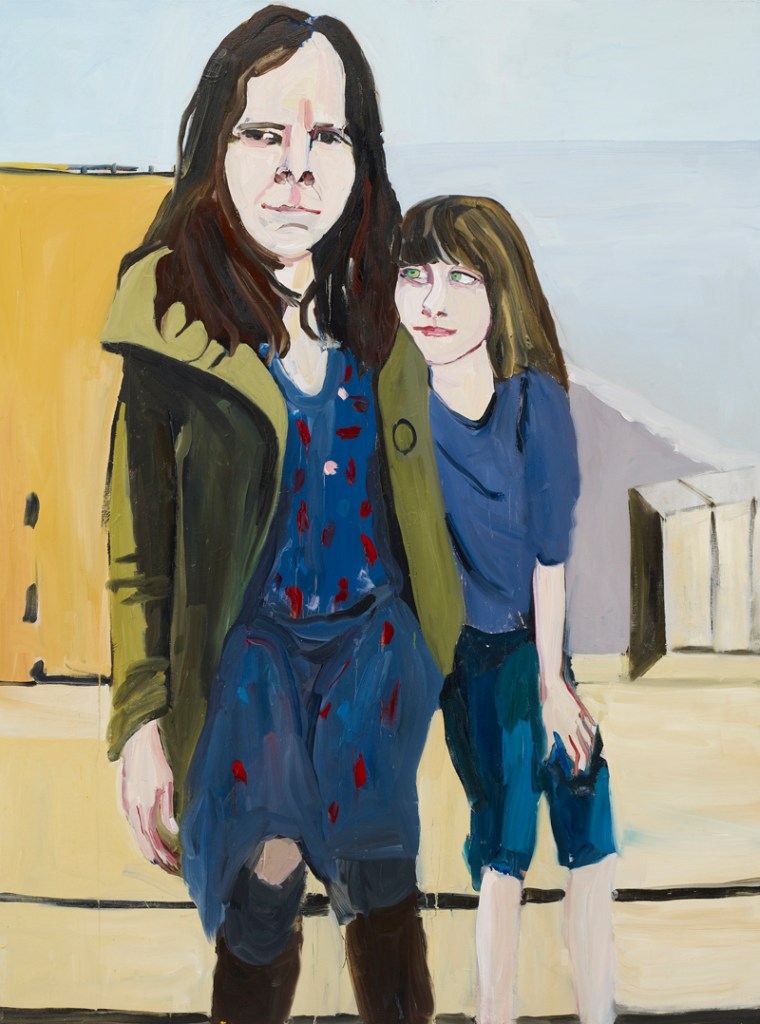Chantal Joffe, Self-Portrait with Esme in St Leonards, Oil on board, Courtesy the artist and Victoria Miro Gallery, ©Chantal Joffe