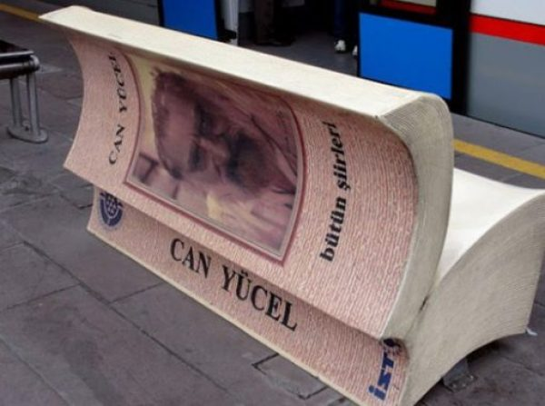 Book Themed Park Bench