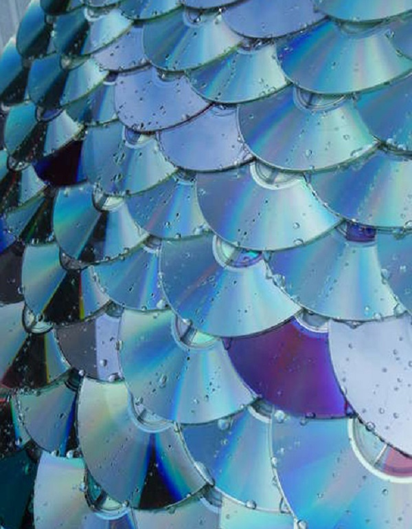 Roof Tiles made with CD's