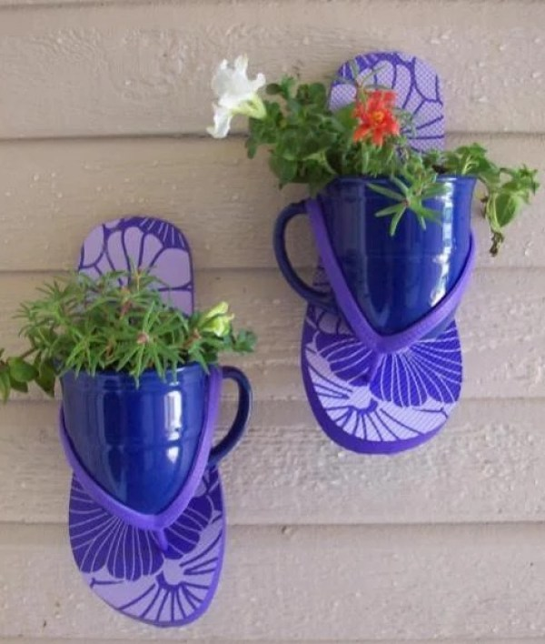 Purple Flip Flop Wall planter