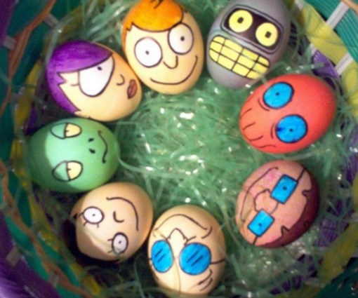 Futurama Painted Easter Eggs