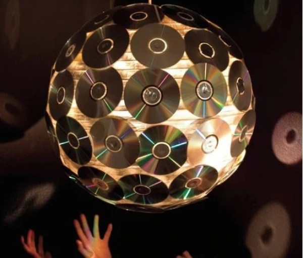Disco Ball made with CD's