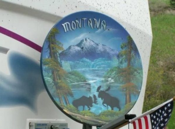 Montana Effect Satellite Dish Art