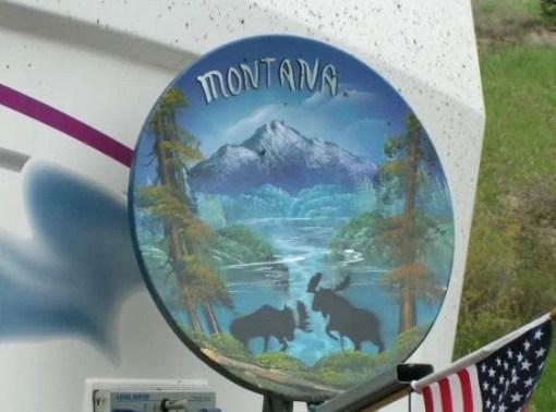 Montana Effect Satellite Dish Art