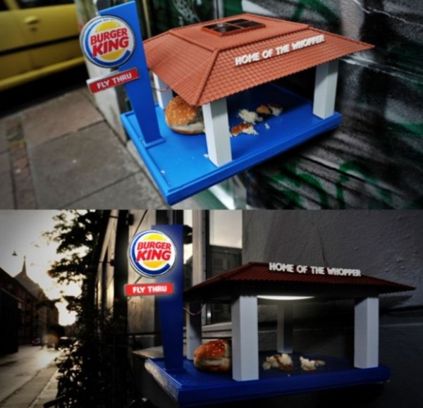 Burger King, Fast Food Bird Feeder