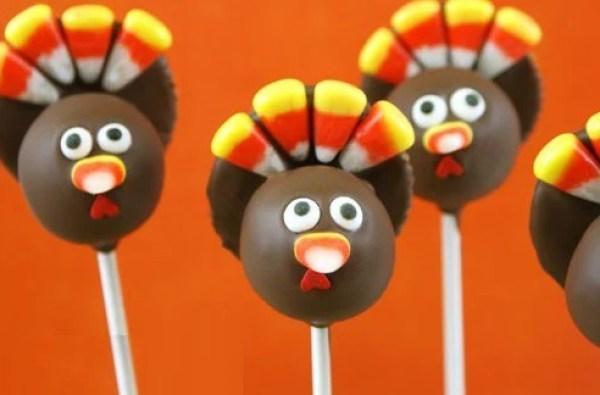 Turkey Cake Pops!