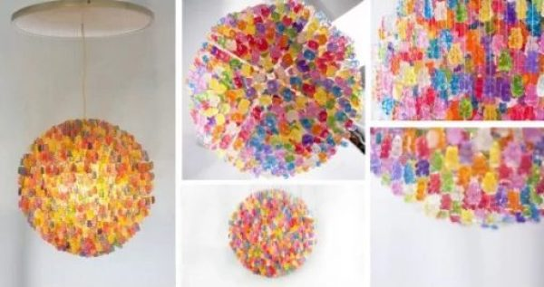 Chandelier made from Gummy Bears