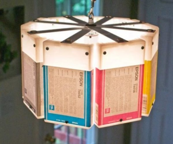 Chandelier made from Ink-Cartridges