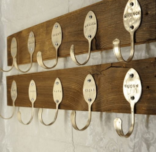 Personalised Spoons Coat Rack