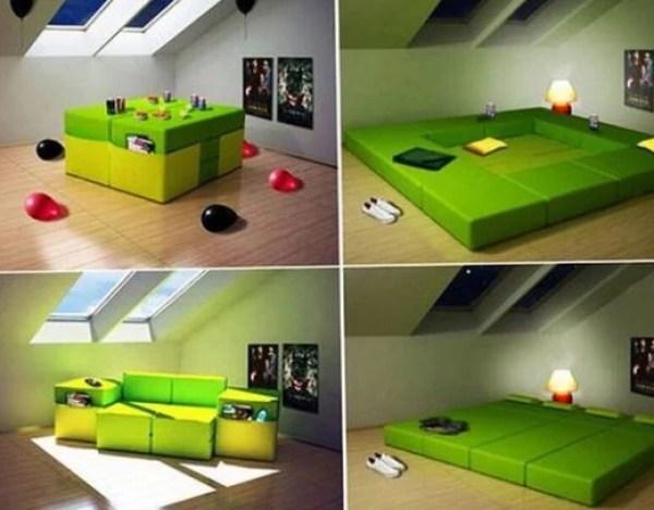 The 2 seater Modular Multi-Purpose sofa that sleeps 4 people