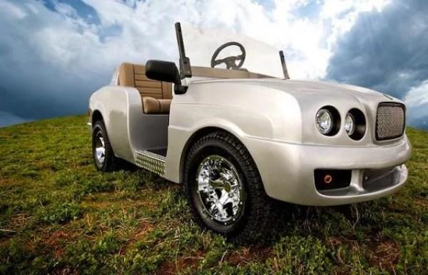 Bentley inspired golf cart
