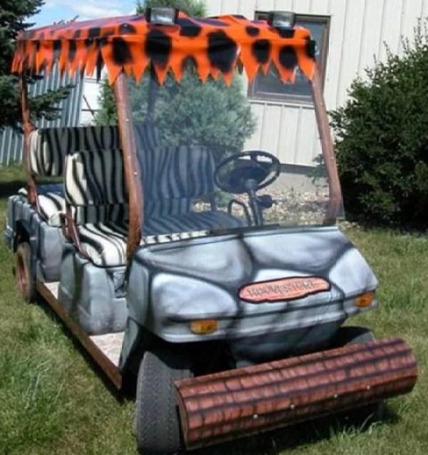 Flintstones-inspired Golf Cart